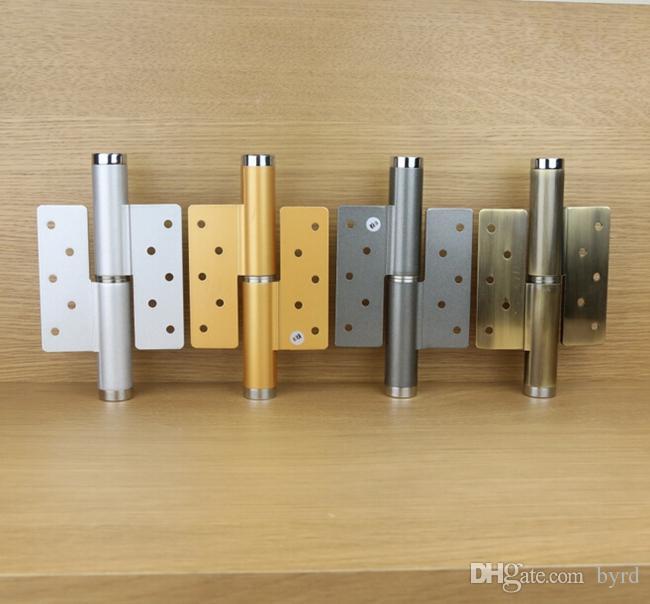 6 polegadas de liga de alumínio porta invisível porta rolha dobradiça pressão hidráulica 90-180 grau cinzento dobradiça direita ajustável velocidade de posicionamento livre