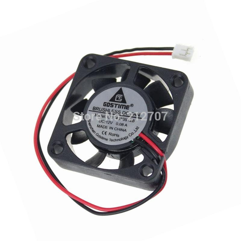 Wholesale- 50PCS Gdstime Mini Air Ventilation Fan DC 12V 2P 4010 40mm 4cm 40 x 10mm