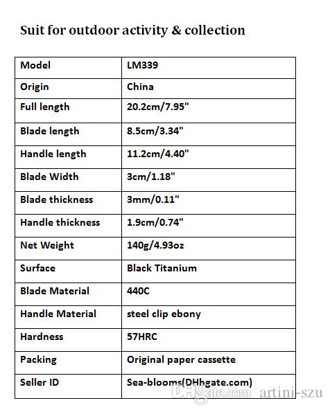 Утилита Браунинг LM339 440С 57HRC лезвие избранное ножа Контр Страйк складные ножи выживания тактический нож Xmas подарок F528E