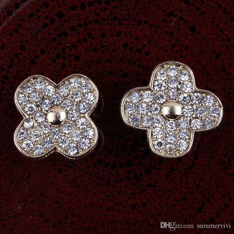 Bottone posteriore perla bottoni Emberllishment Usato sul matrimonio / Wedding Button bambini lega fai da te spilla A8011