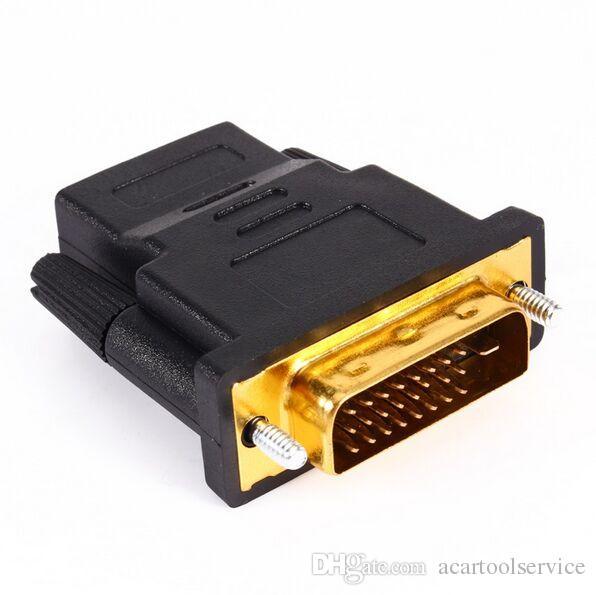 Acartool hdmi para dvi 24 + 1 adaptador fêmea para macho 1080 p hdtv conversor para pc ps3 projetor caixa de tv