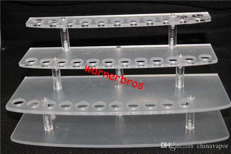 Detachable Acrylic E Cig Case Ecig Atomizer Display Stand Shelf Ego Battery Showcase Electronic Cigarettes exhibition show holer pen rack