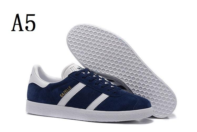 2018 Top Quality Mens Womens Casual Suede Gazelle Black Grey Red Yellow Lightweight Walking Hiking racer Shoes Size EUR36-44