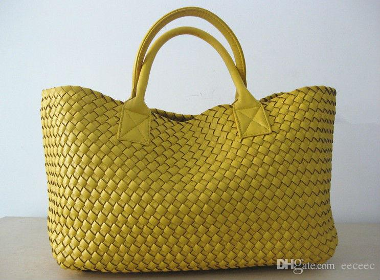 Pelle Brand New intrecciato come punto trasversale Hobo Large tessuta modo borsa della borsa di borsa delle donne della Casual Tote