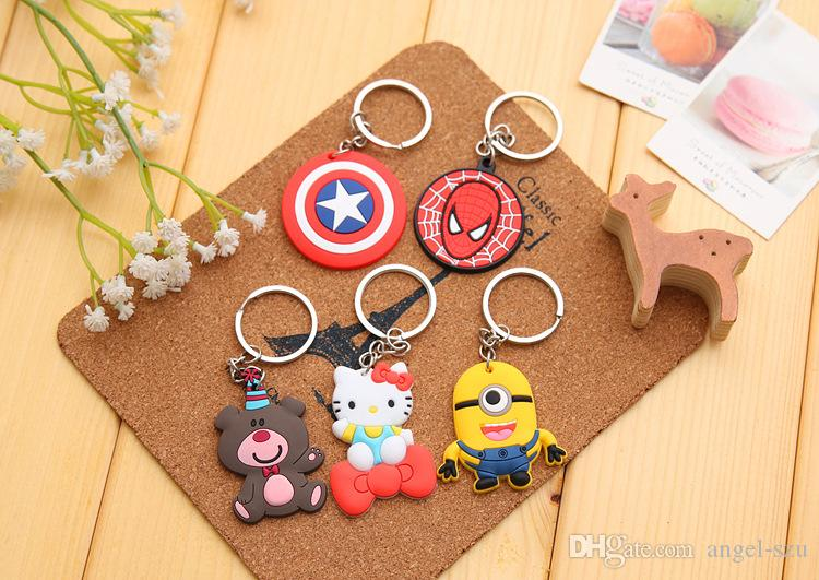 Pack Of Novelty Item 8 Styles Adorable Animals Silicon Keychain Key Caps Covers Keys Case Shell Car Accessories Keychain E661E