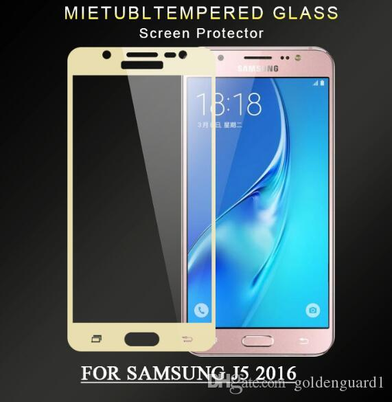 For Samsung S7 Tempered Glass Screen Protector for Samsung Galaxy C5 C7 C9 Pro S6 W2017 J7 Max 9H Hard Nano Glass Silk Print Full Cover