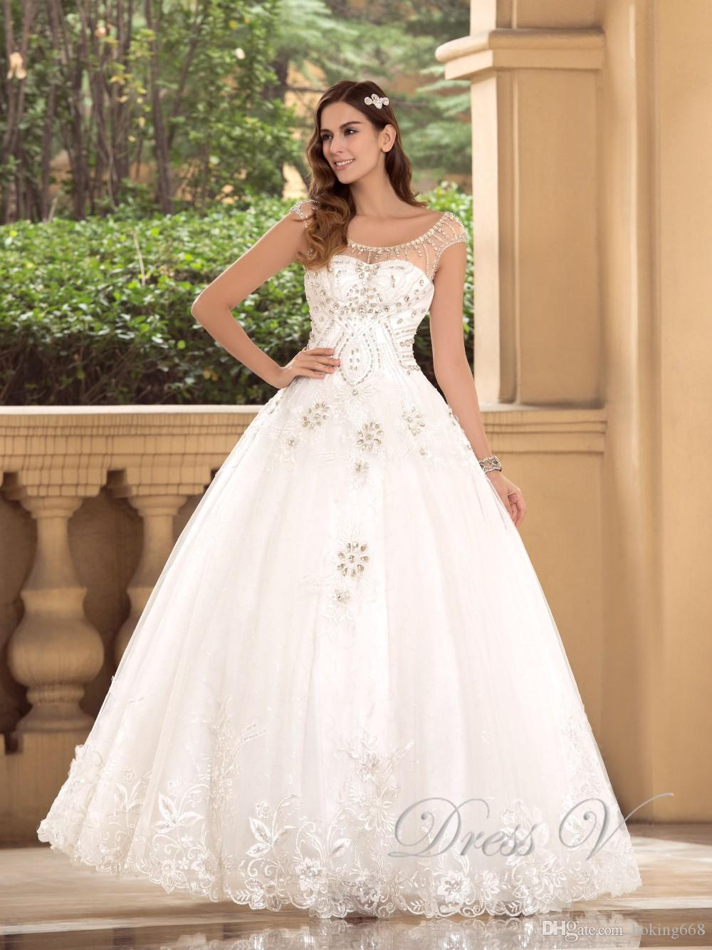 e02f426790 Luxury Ball Gown Wedding Dresses 2019 Newest Scoop Heavy Beaded Top Lace  Wedding Dresses Princess Casamento Bridal Gowns Custom Made Cheap Dresses  Cheap ...