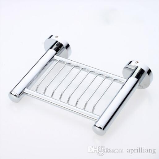 High Quality Bathroom Accessories Brass Bath Shower Soap Dish Basket Wall Mounted Rack Shelf Holder Chrome Polished