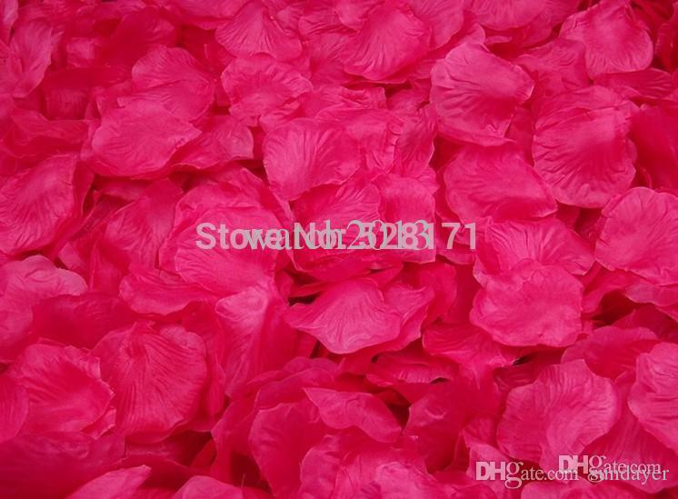 Wholesale hot pink silk rose petals supply flowers petals favor for wholesale hot pink silk rose petals supply flowers petals favor for wedding party decoration wedding flowers images wedding silk flowers from sundayer mightylinksfo