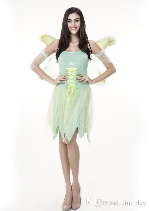 Halloween Costume Adult Green Beautiful Faery Elves The Angel Put Role Play Clothes Wonderful Fairy Suit Angel Elf Costumes Fairy Costume Teen Halloween ...  sc 1 st  DHgate.com & Halloween Costume Adult Green Beautiful Faery Elves The Angel Put ...
