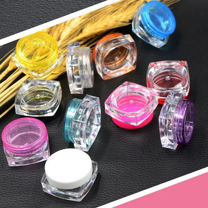 Nachfüllbare Mini 5g kosmetische leere Glas Pot Lidschatten Make-up Gesichtssahne Lippenbalsam Container Flasche /