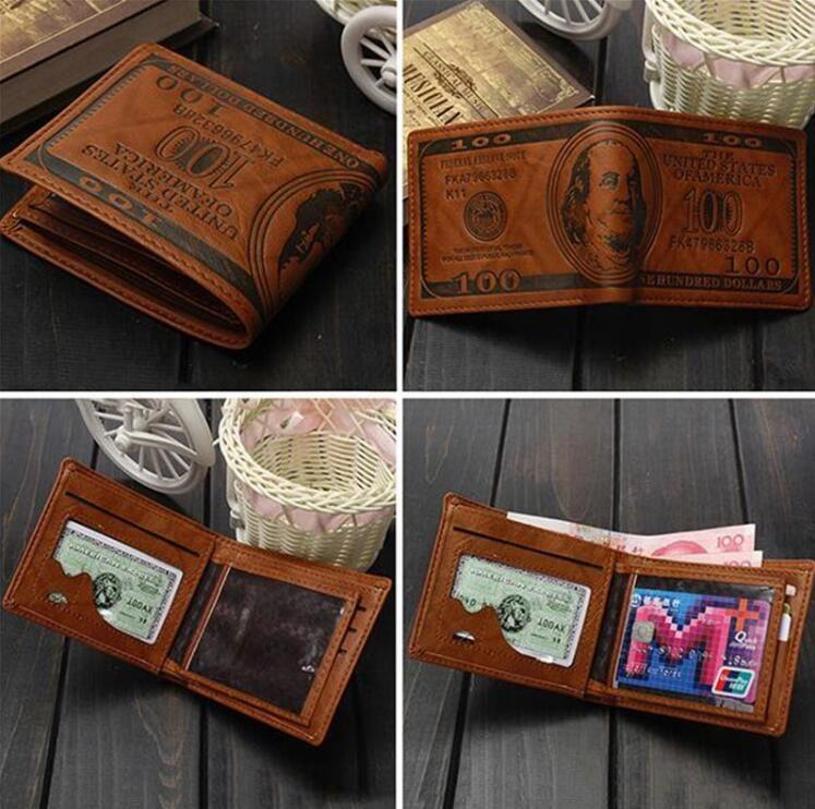 Mode vente dollar prix modèle designer hommes portefeuilles occasionnels titulaire de carte de crédit porte-monnaie portefeuille pour hommes cadeau livraison gratuite