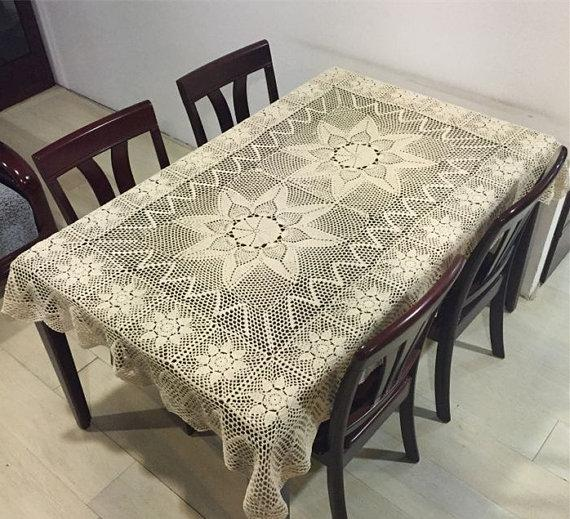 Rectangular Table Cloth, Vintage Style Tablecloth, Oblong