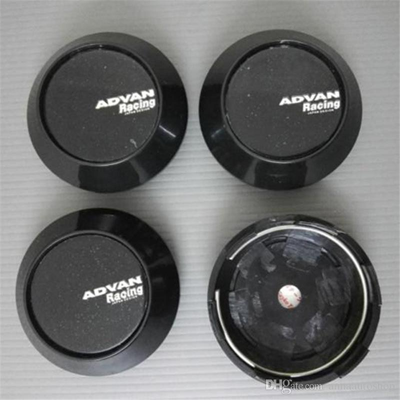 68mm Car Wheel Center Hub Caps Emblem Cover for ADVAN 65mm Black and Silver Boot Badge