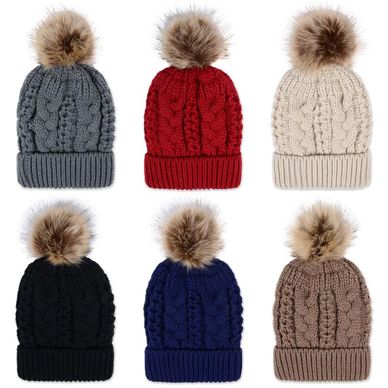 831de608a78 Women S Beanies Hat With Raccoon Fur Pom Poms Winter Thick Hats Womens  Multicolors Flexible Outdoor Snow Caps Hip Hop Skullies Cap Cap Hat Cute  Beanies From ...