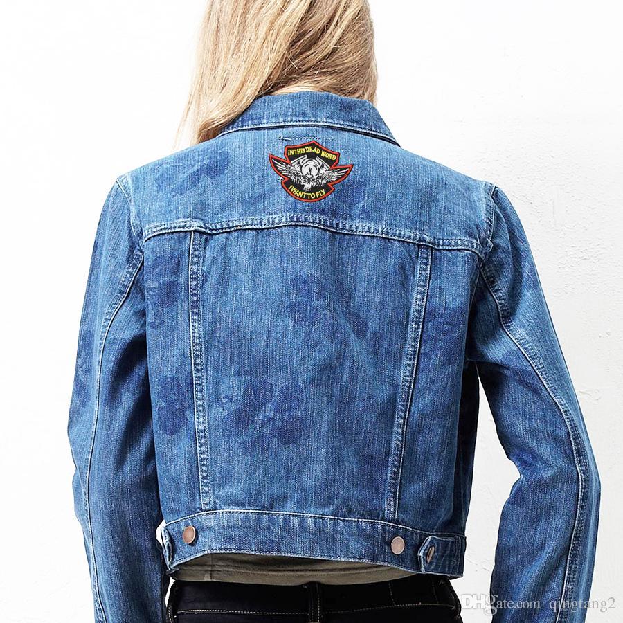 patchs de broderie de crâne pour vêtements patch de mode de fer à repasser pour vêtements appliques accessoires de couture autocollants sur fer de vêtements sur patch