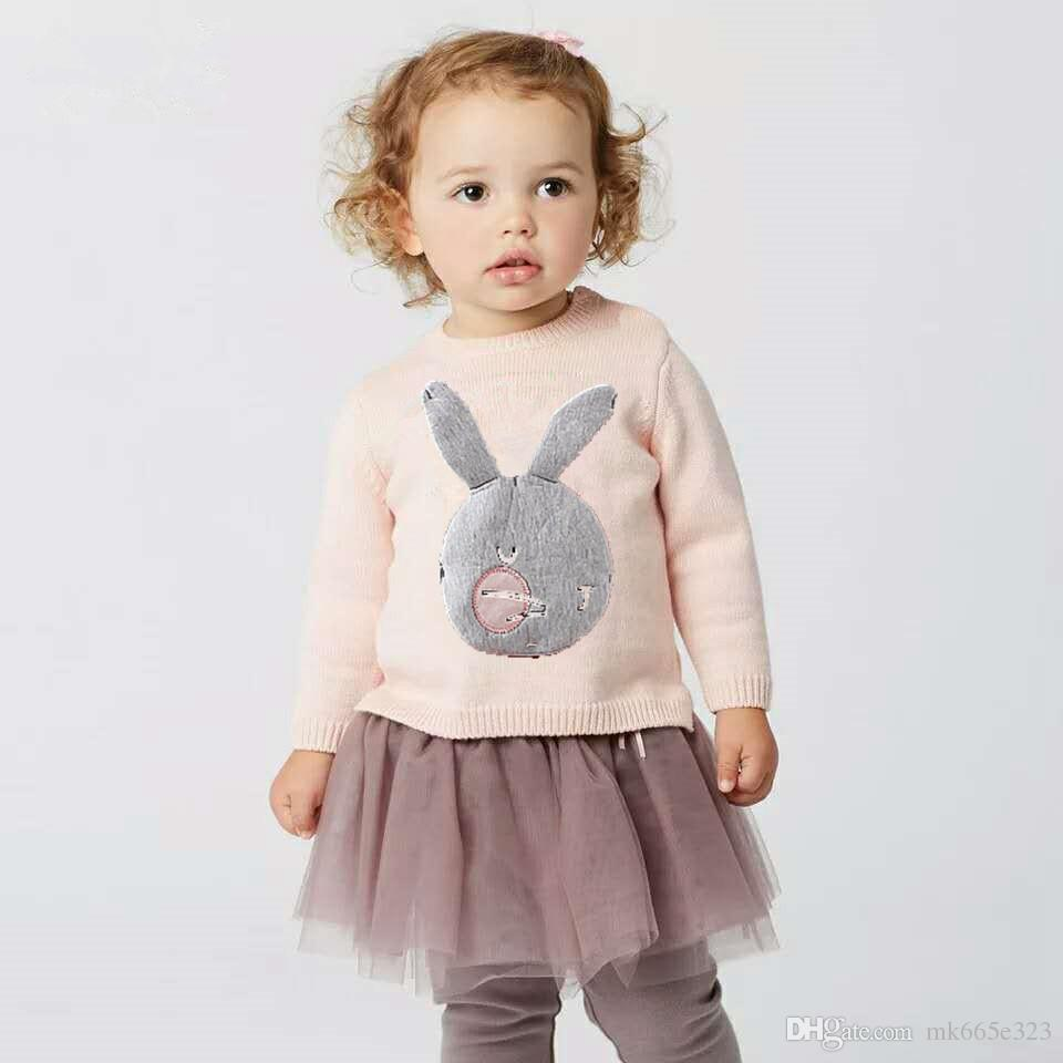 a94047ccc4f09 2019 Baby Girls Dresses Spring Autumn Cute Cartoon Animal Rabbit ...
