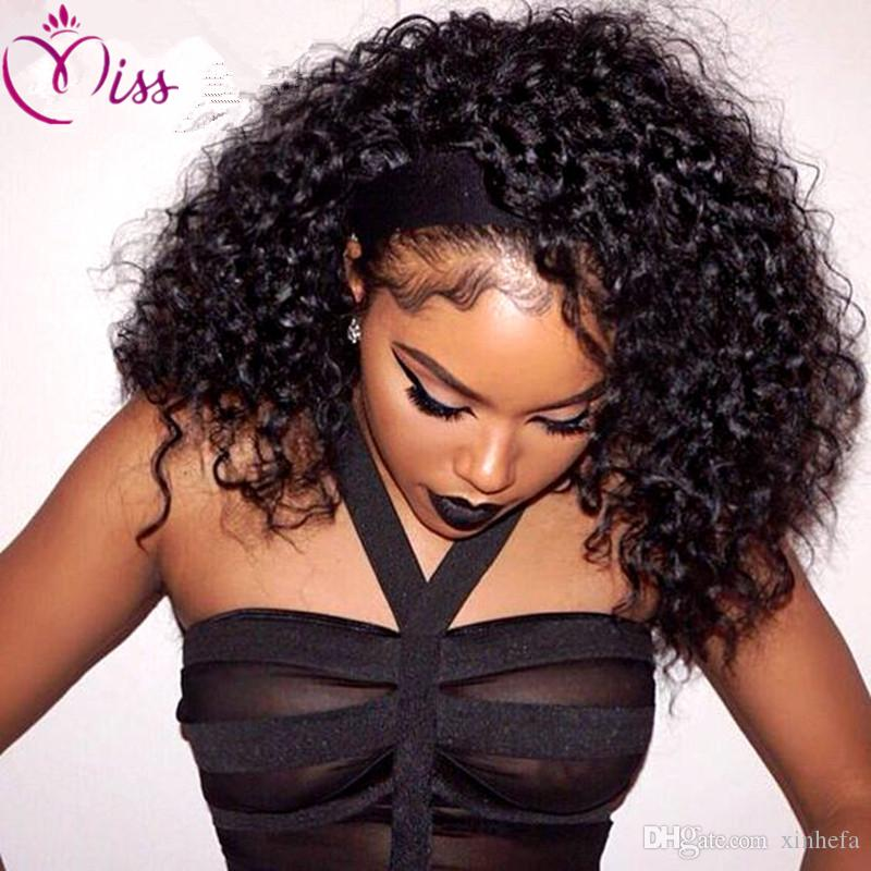 Peruvian Hair Silk Top Full Lace Human Hair Wigs Deep Curly Front Lace Wigs 130% Density Curly Silk Base Lace Front Wigs