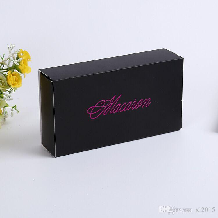 12 Cups Paper Macaron Box Packaging Drawer Type Biscuit Pastry Chocolate Cake Boxes For Wedding Party Gift wen4727