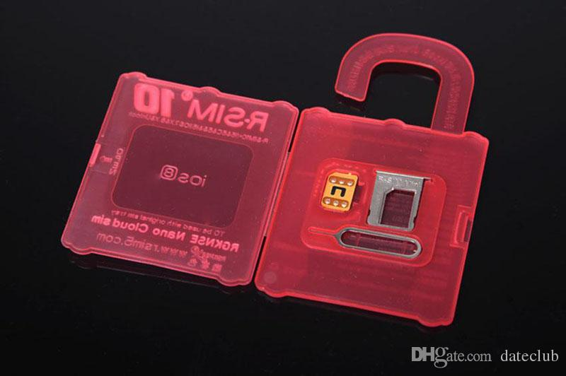 R-SIM 10 R SIM 10 RSIM 10 r sim10 Desbloqueio Cartão Perfeito desbloquear para o iphone 6 plus iphone 6 5s 5 4 s IOS8.X ATT T-móvel Sprint WCDMA GSM CDMA
