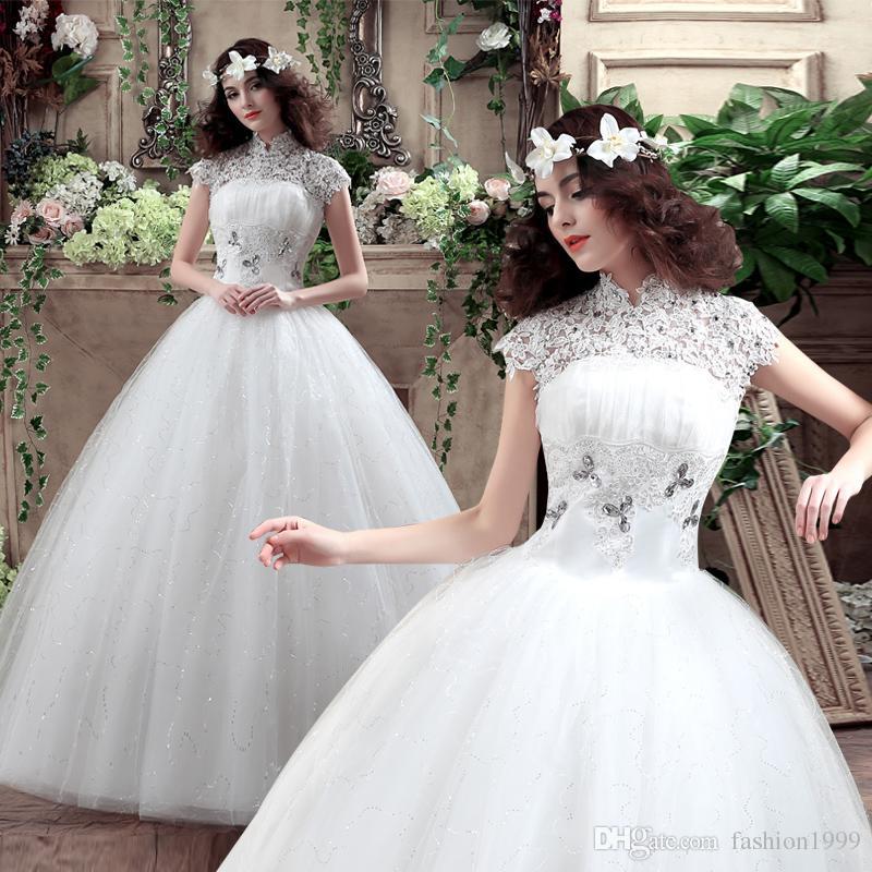 Discount Classic Vintage White A Line Wedding Dresses Women Trendy ...