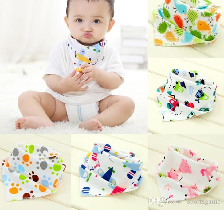 4ac814281f63 2019 High Quality Double Layers Cotton Baby Bibs Burp Cloths Lovely Cartoon  Character Animal Baby Bandana Dribble Bibs From Sportsgame
