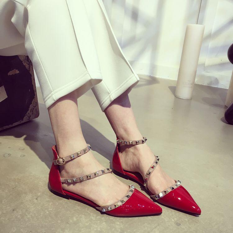 fashionville * b106 40/41/42 echtes lederband speey flache sandalen damen mode schuhe designer rot nackte beige schwarz weiß