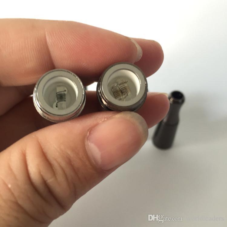 Skillet V Atomizer with Dual Quartz Rod Coils Ceramic Coil Heads Replacement Core For Wax Ecig Vaporizer VS CE3