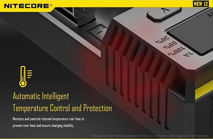 2016 New Version 100 % 기존 Nitecore I2 배터리 충전기 Nitecore 배터리 충전기 EU / US for 16340 10440 14500 18650 26650