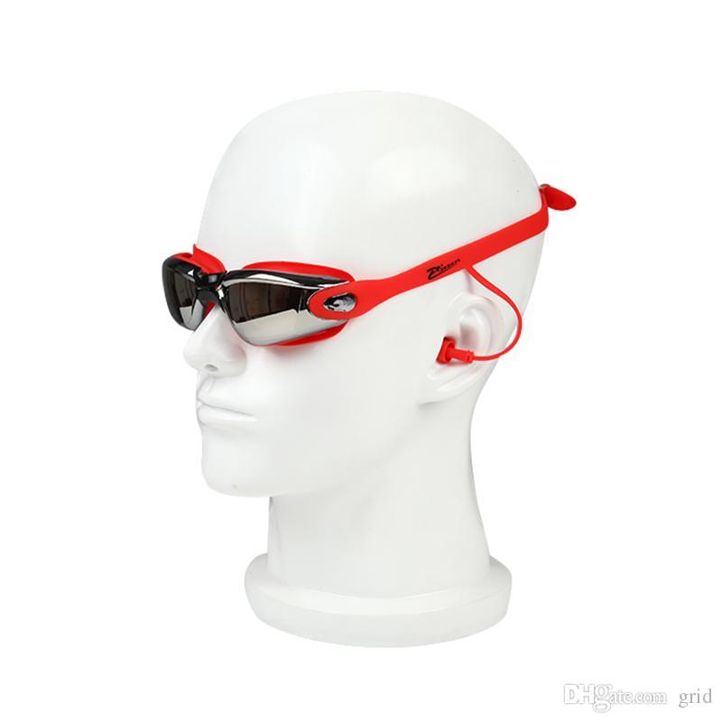 Men Women Anti Fog UV Eyewear Protection Surfing Swimming Goggles Soft Earplugs Waterproof Swim Glasses with Earplug