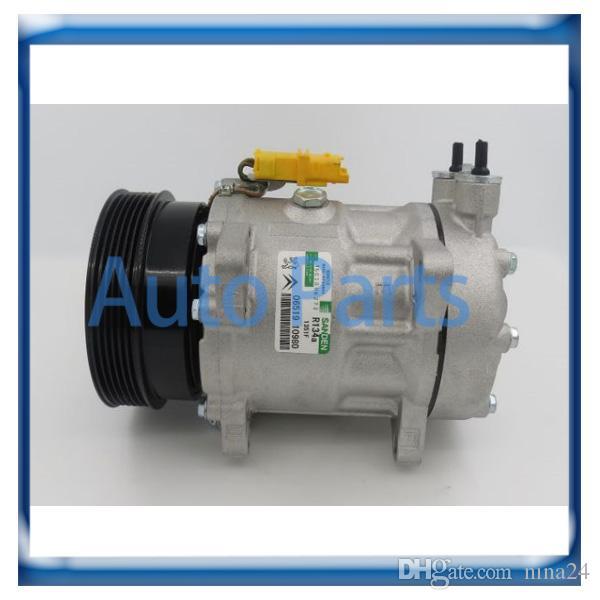 Compressor SD7V16 para Citroen C5 P8 Peugeot 807 607 406 9642800780 PEK306 8646015 6453NH TSP0155418