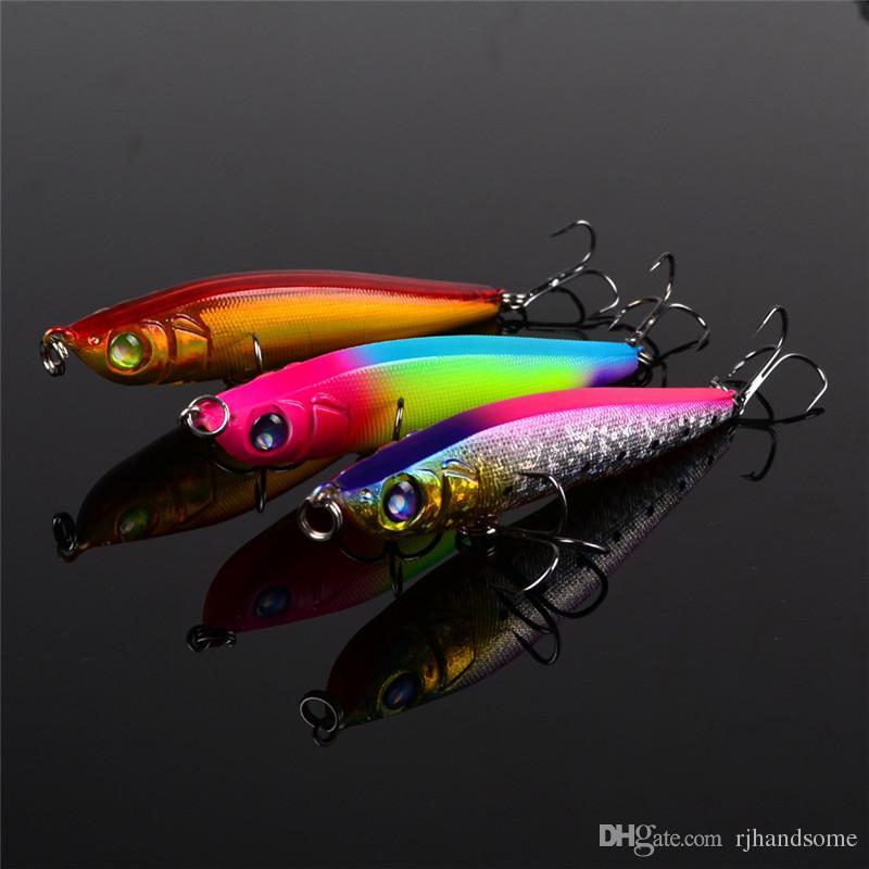 Hot Minnow pencil Fishing Lure 9cm 15g ABS Plastic Crank Flake Laser Baits Lur Diving Depth 0.5-2.5m