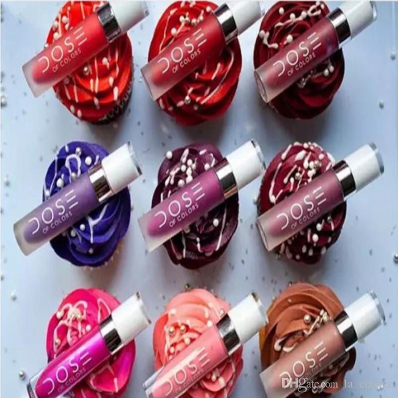 2016 New Arrival Dose De 12 Cores Líquido Matte Batom À Prova D 'Água Lip Gloss Lipgloss beleza batom Frete grátis