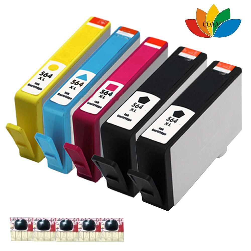 2017 compatible hp 564 xl chipped ink cartridge for photosmart 5510 5515 5520 5524 6510 c6380. Black Bedroom Furniture Sets. Home Design Ideas