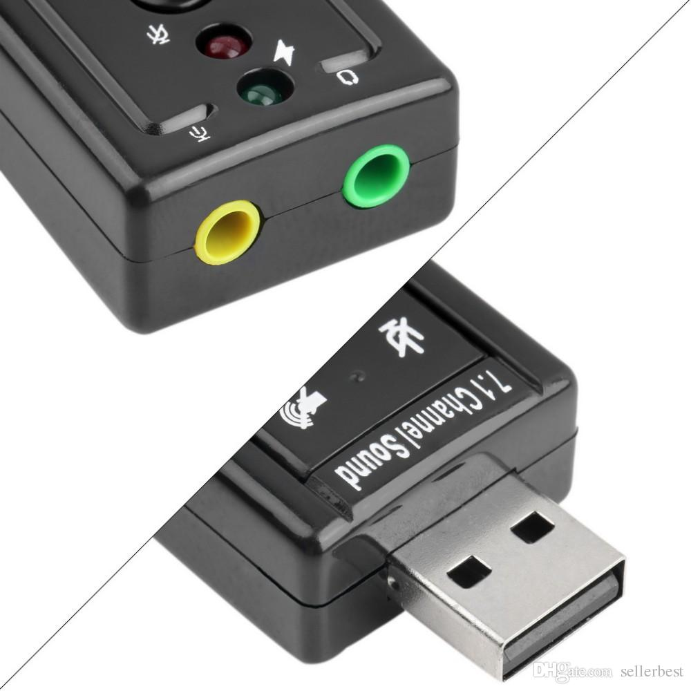 JP209-B CM108 Mini USB 2.0 3D Externo 7.1 Canais de Som Virtual 12Mbps Adaptador de Cartão de Som de Áudio de Alta Qualidade