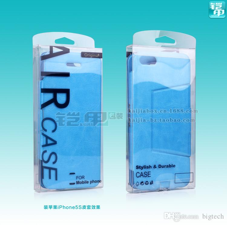 wholesale Plastic Crystal PVC Transparent Packaging Box with Hanger for iphone 7 7plus for Google Pixel XL Phone Case Packaging