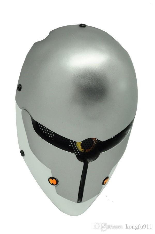 Tactical Mask's Home ENGRANAJE M06 AIRSOFT PAINTBALL COSPLAY Malla de alambre PROTECCIÓN COMPLETA DE LA CARA MÁSCARA DEL CRÁNEO Metal Gear Sólido Gris Fox