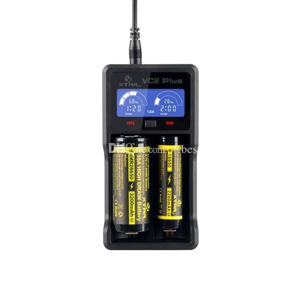Двойной 18650 Зарядное устройство-аутентичные xtar VC2 USB зарядное устройство для LG HG2 HE4 HE2 Samsung 25R 30Q-тест емкость батареи