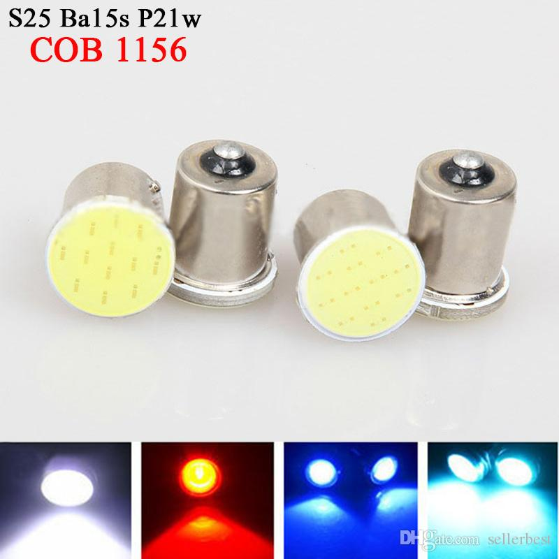 Super White cob p21w led 12SMD 1156 ba15s 12v bulbs RV Trailer Truck car styling Light parking Auto led Car lamp