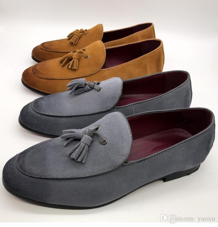 Мужчины Оксфорды Кожа Острым Носом Оксфорды Деловое Платье Формальные Оксфорд Обувь Для Мужчин Квартиры Свадебная Обувь DHA17