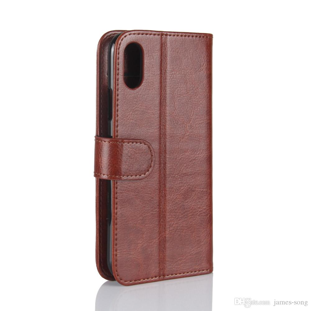 For iPhone XS Max XR X 6 6S 7 8 Plus Case Luxury Flip Leather Back Cover Phone Accessories Bags Skin Coque Para