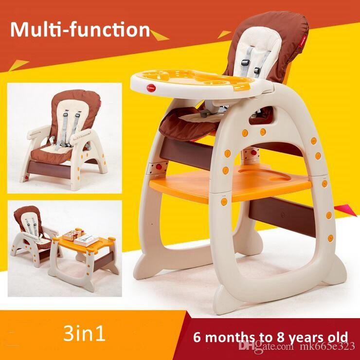 3 In 1 Baby Dining Chair Table Multifunction Toddler Healthy Care Deluxe Children Learning Desk Safety Harness Child Chairs