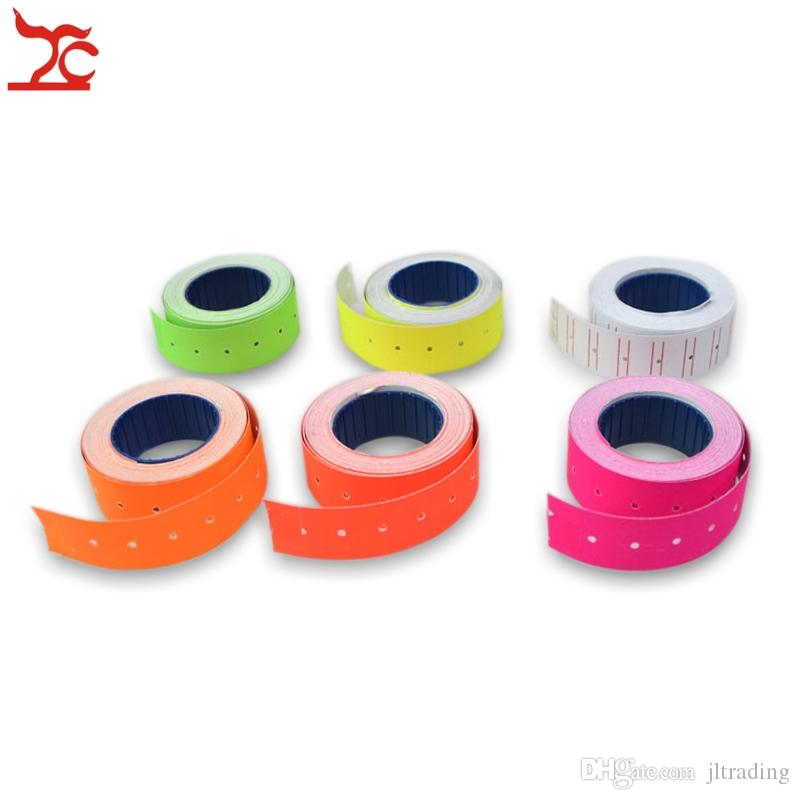 Promotion colorful Rolls A Barrel Price Tag Paper Price Label Refill Adhesive for MX-5500 Price Tag Gun Lableller