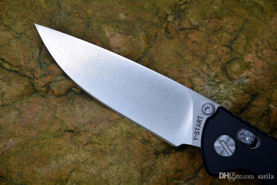 Y-START serrure axiale couteau pliant satin lame roulement à billes G10 poignée cadeau couteau de Noël couteau Drop Shipping