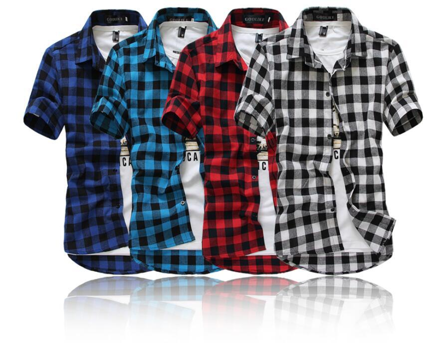 af64033594711 Wholesale-Mens Plaid Shirts 2016 New Arrival Men s Fashion Plaid ...