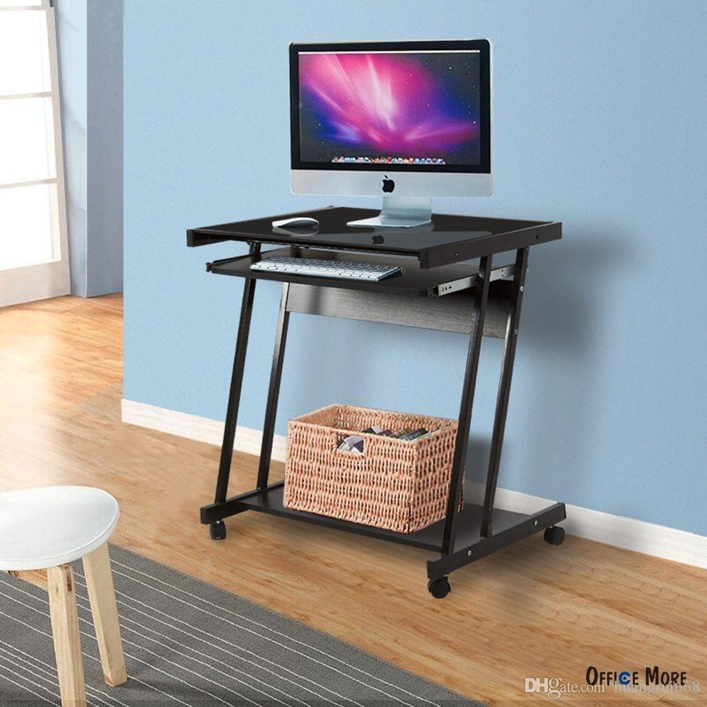 2018 Home Office Computer Desk Laptop Pc Table 4 Wheels Roll Workstation Furniture From Huangrui668 37 69 Dhgate Com