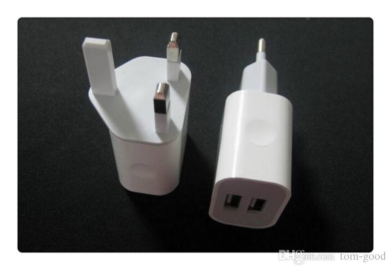 New DHL Metal Dual USB wall US plug 2.1A AC Power Adapter Wall Charger Plug 2 port for samsung galaxy note LG tablet ipad