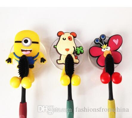 minion bathroom set. 2018 Cute Minion Hello Kitty Cartoon Suction Cup Toothbrush Holder Hooks Bathroom  Set Accessories Eco Friendly From Fashionsfromchina 2 76 Dhgate Com