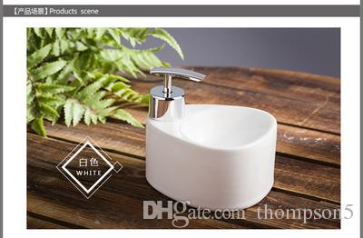 Home Kitchen bathroom Ceramic soap dispenser hand sanitizer container multicolor lotion bottle hand pressure pump head lotion box prochoos