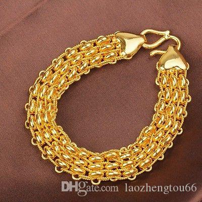 inches solid mm mens cuban miami big yellow link gold bracelet